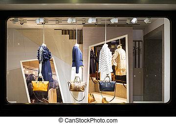 店, ブティック, ファッション, 窓ディスプレイ