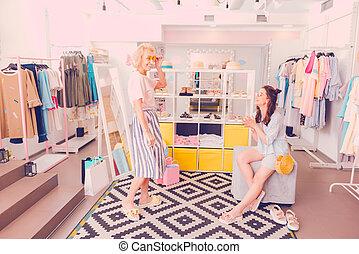 店, 仮縫い, 流行, 新しい, 衣服, 女性