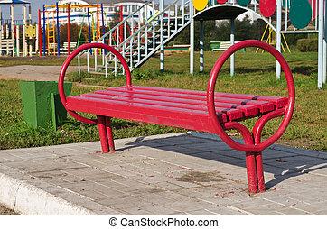 店, 公園, 赤