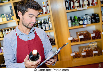 店, 取得, セールスマン, 在庫, ワイン