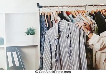 店, 女, ファッション, 小売り