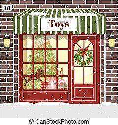 店, 建物, おもちゃ, ファサド, クリスマス, 店