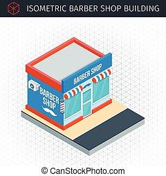 店, 建物, 等大, 理髪師