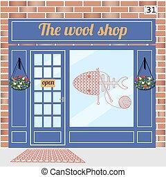 店, 建物, 羊毛