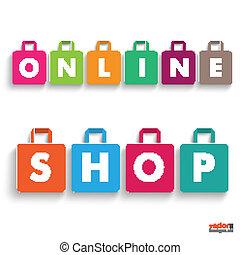 店, 有色人種, 買い物, 紙袋, オンラインで