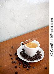 店, 木製である, コーヒー豆, テーブル