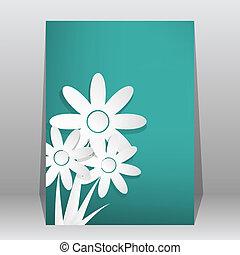 店, 花, &, フライヤ, ポスター, カバー, 雑誌, ベクトル, パンフレット, テンプレート