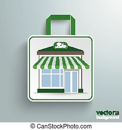 店, 買い物, 紙袋, bio
