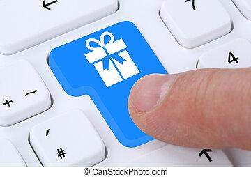 店, 買い物, 贈り物, 命令, インターネット, 贈り物, オンラインで