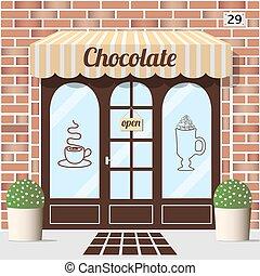 店, facade., チョコレート
