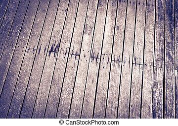 度过, 边, 背景, 墙壁, 木地板