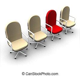 座席, 概念, 独特, 3d