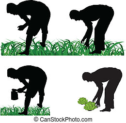 庭師, 農夫