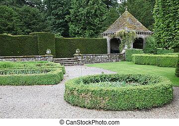 庭, クラシック, イギリス, 英語, 形式的