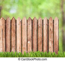 庭, フェンス