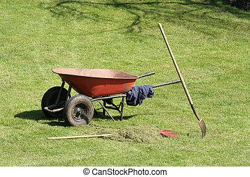 庭, 一輪手押し車