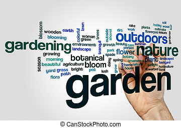 庭, 単語, 雲, 概念