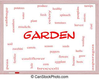 庭, 単語, 雲, 概念, 上に, a, whiteboard