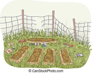 庭, 捨てられた