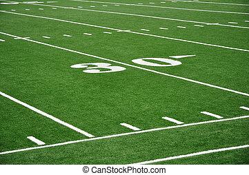 庭, 30, フットボールフィールド, アメリカ人, 線