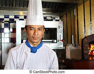 廚師, 姿態, 工作