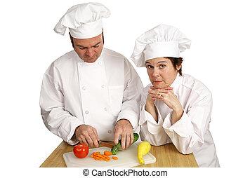 廚師, 學校, -, 船尾, 教師