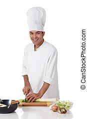 廚師, 尼泊爾人, 男性, 韭蔥, 有吸引力