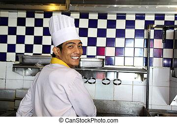 廚師, 微笑, 工作
