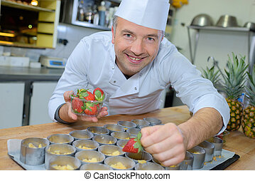 廚師, 甜食, 工作