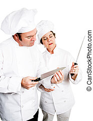 廚師, -, 質量, 刀子