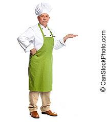 廚師, 邀請, 在, restaurant.