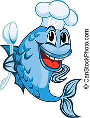 廚師,  fish