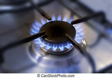 廚房, 气体, flame-2