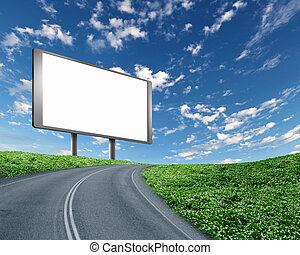 廣告欄, 在道路上