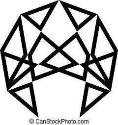 廣場, 三角形, tridimensional, 球, 建立, 幻想