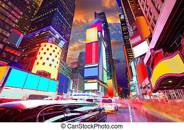 廣場, 廣告, 被刪除, 時代, 約克, 新, 曼哈頓