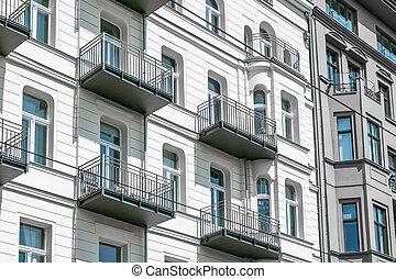 建物の正面, アパート, ベルリン