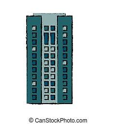 建物の正面, アパート, 家, アイコン