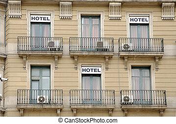 建物の正面, バルセロナ, ホテル, スペイン