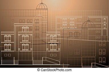 建物の正面, 現代