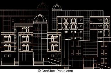 建物の正面, 現代, -
