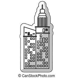建物の正面, 線, 切口, ビジネス
