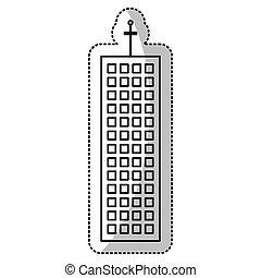 建物の正面, 線, 切口, 構造