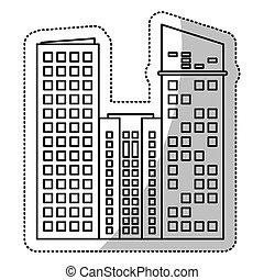 建物の正面, 線, 切口, 財産
