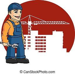 建物の 労働者, サイト