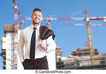 建物サイト, ビジネス 人々