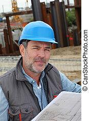 建物サイト, マネージャー, 建設, 制御, 計画