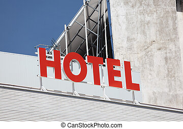 建物トップ, ホテル, 赤, 印