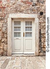 建物石, 古代, ドア, クラシック, 白