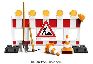 建物装備, 労働者, 建設, 下に